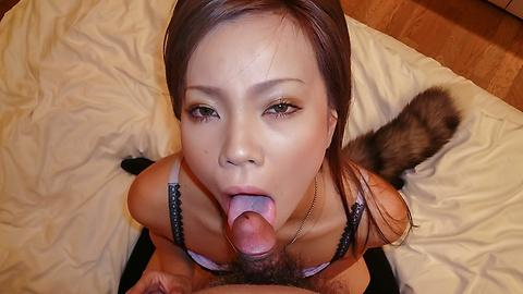 Sakiko finish oral sex in animal dress cosplay JAV HD