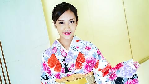 Japanese pussy in kimono dress is so sexy to round fasty jav Uncen