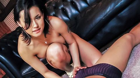 Hot milf touching Asian dick and lets him cum so much with her best sex skill - Maria Ozawa