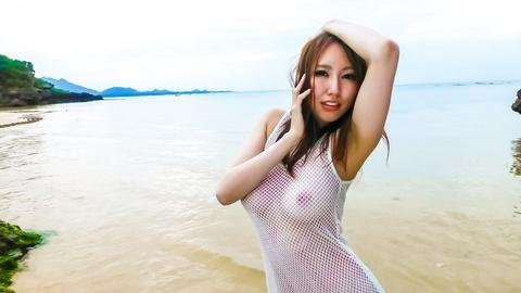 Japanese hottest sex model Ruka Ichinose showing curvy body outside HD uncensored