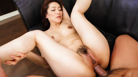 Lustful jav MILF Marina Matsumoto ass fucked by two Asian dudes
