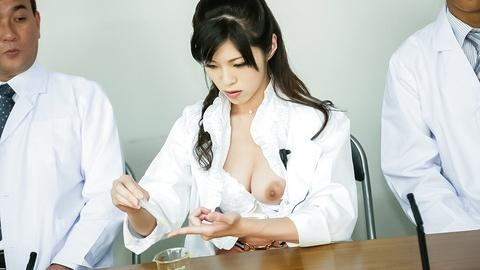 Japanese MILF nurse Sara Yurikawa fucking hard with her partners