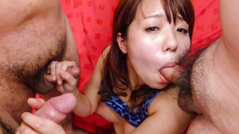 Miyu Kaburagi gives hot Japan blowjob for hardcore gangbang video Uncensored
