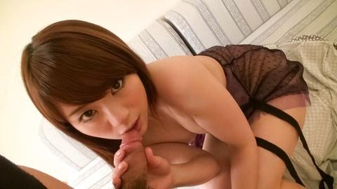 Mayuka Akimoto blowjobs deepthroat a big Asian cock Jav Uncen