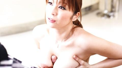 Busty jav model Hitomi Araki tit fucks and blowjobs POV a hard dick