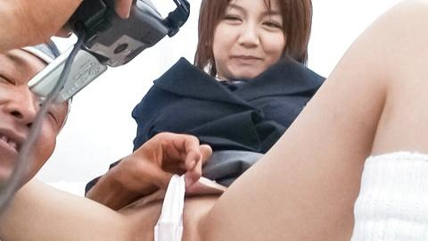 Sexy Meguru Kosaka in school uniform POV fucking after lesson