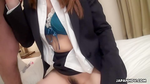 Asian office girl has sex with coworker in hotel HD Uncensored