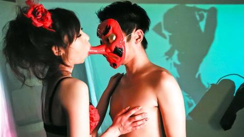 Instead of real cock he has toy mask for her sex JAV HD uncen